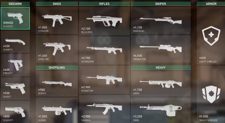 armas valorant español
